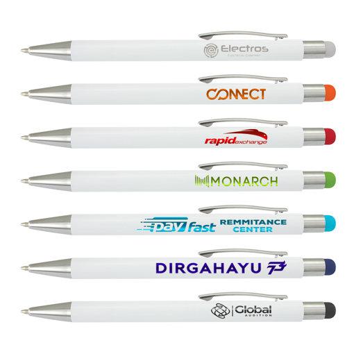 Picture of Lancer Stylus Pen - White Barrel