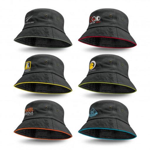Picture of Bondi Bucket Hat - Coloured Sandwich Trim