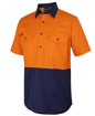 Picture of HI VIS CLOSE FRONT S/S 150G WORK SHIRT
