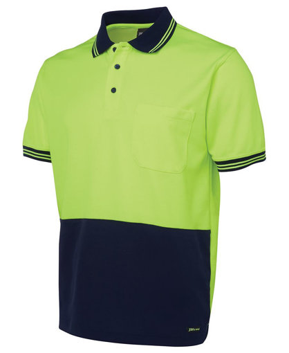Picture of HI VIS S/S COTTON BACK POLO