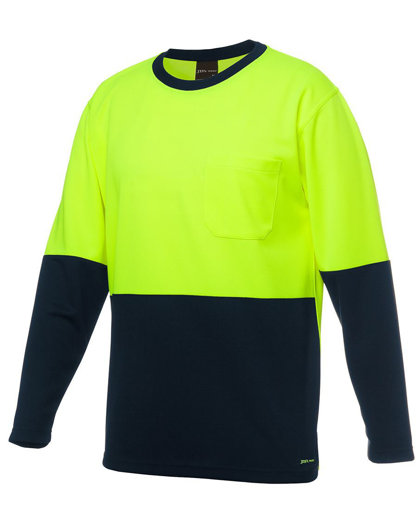 Picture of HI VIS LONG SLEEVE TRADITIONAL T-SHIRT