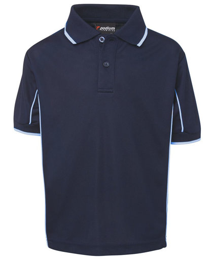 Picture of KIDS S/S PIPING POLO