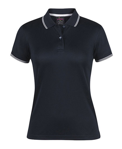 Picture of LADIES JACQUARD CONTRAST POLO