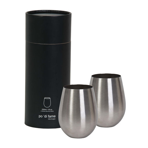 Picture of Stemless Stainless Steel Wine Glass Set